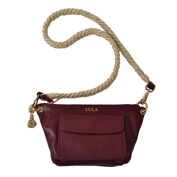1902 Lina Mini Crossbody Bag - Burgundy