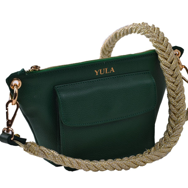 1909 Lina Mini Crossbody Bag - Emerald Green