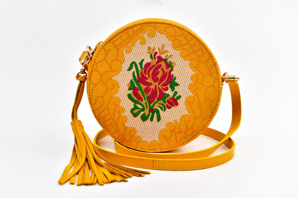 Batool Circle Bag - Yellow