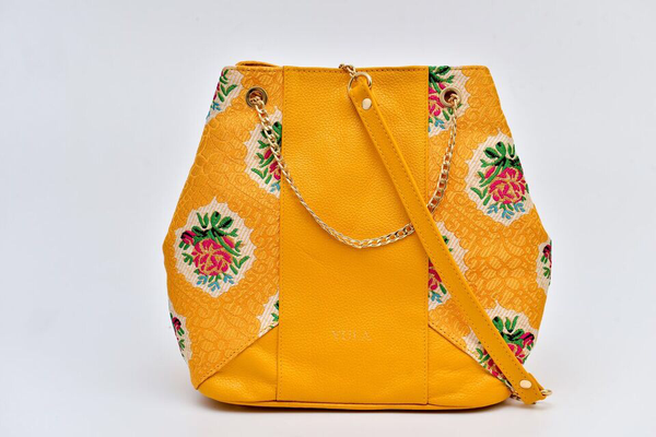 Sophia Bucket Bag - Yellow