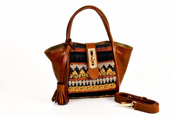 Lumsi Small Satchel Bag - Brown Tan