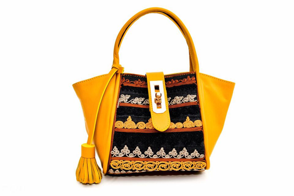 Lumsi Small Satchel Bag - Mustard