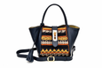 Lumsi Small Satchel Bag - Navy blue