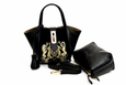 Lumsi Small Satchel Bag -  Gold Embroidery