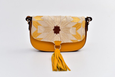 Bicolor Ittô mini Crossbody Bag - Mustard & brown