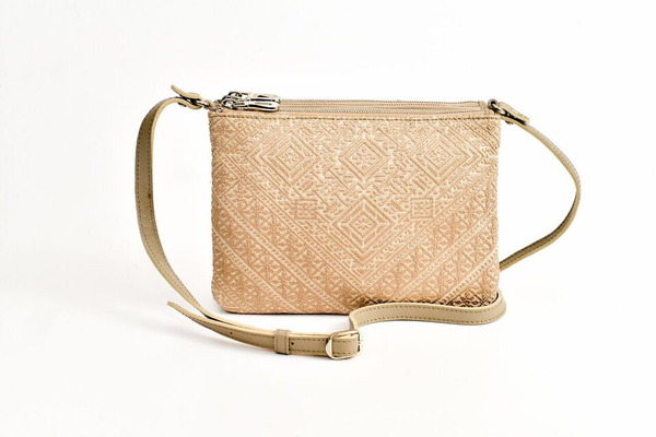 FAY Triple -zip Crossbody Bag - Beige