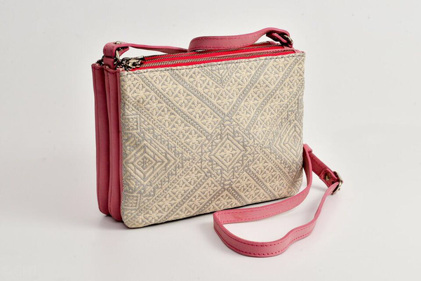 FAY Triple -zip Crossbody Bag - Pink