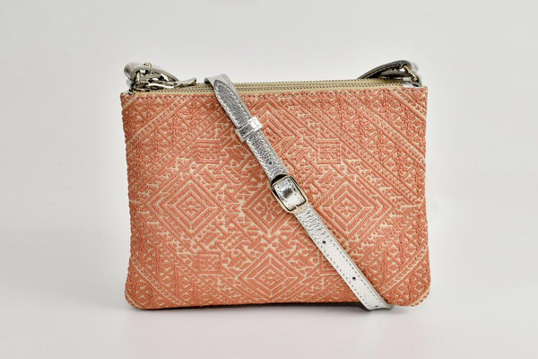 FAY Triple -zip Crossbody Bag - Silver - peach