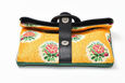 Casablanca Foldover Clutch - Black /Green