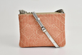 FAY Triple -zip Crossbody Bag - Silver / Peach