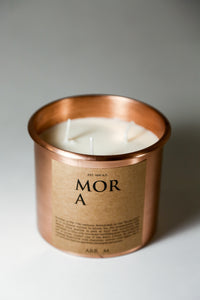THREE WICK SOY CANDLE WITH COPPER VOTIVE