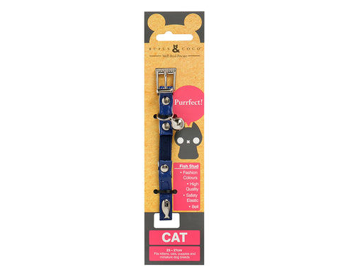Fish Stud Cat Collar