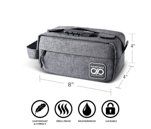 Gray Compact Odor Proof Case
