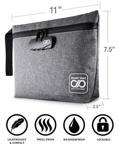 Gray Smell Proof Pouch