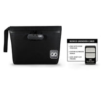 Load image into Gallery viewer, Black Smell Proof Bag with Grinder Card