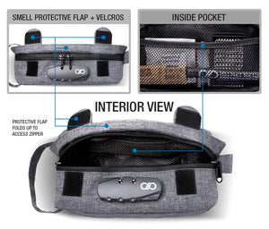 Gray Compact Smell Proof Bag