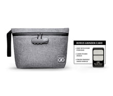 Load image into Gallery viewer, Gray Smell Proof Bag with Grinder Card