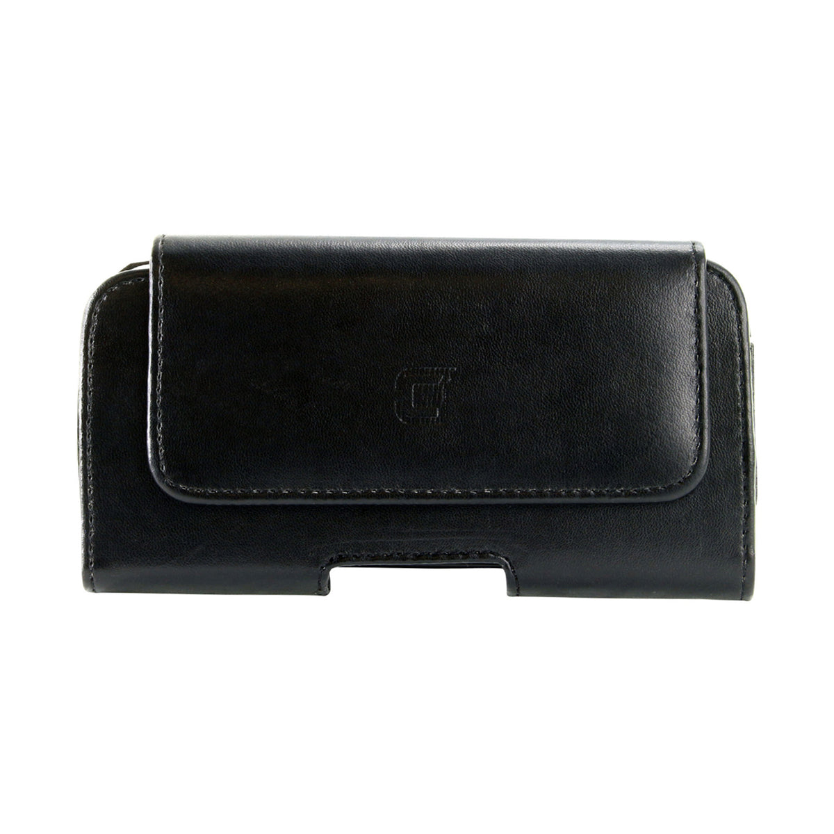 Faux Leather Horizontal Pouch w/ 360 Belt Clip - 5in