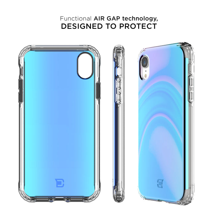 Flare Swirled Iridescent Clear Tough Case - iPhone XS / X