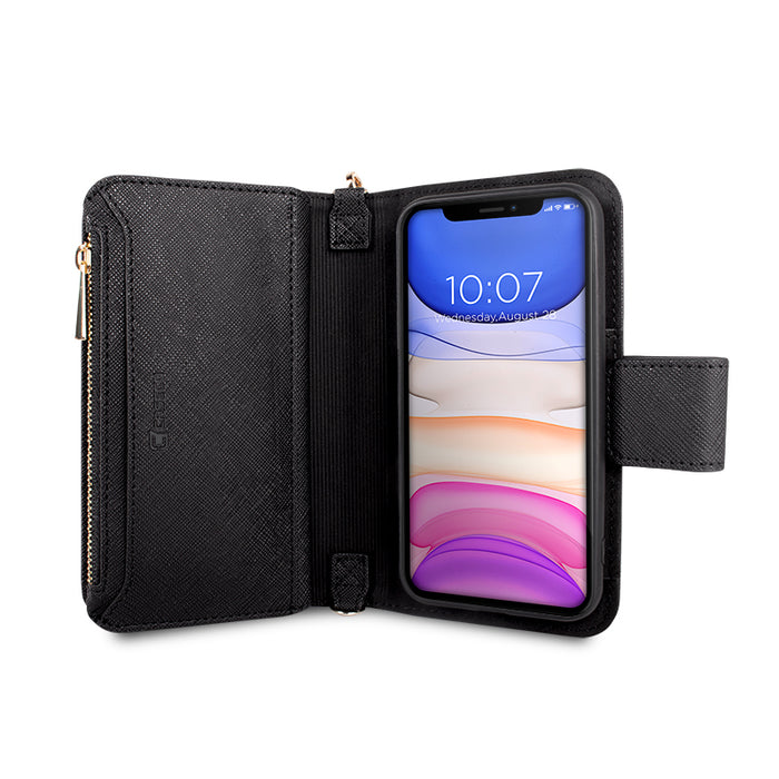 Crossbody Clutch Case Case - iPhone 11 Pro - Black