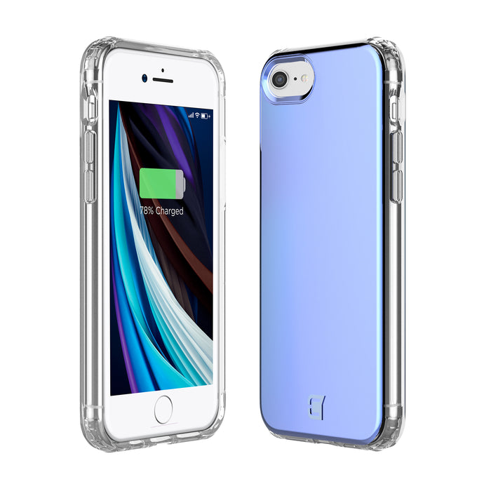Flare Swirled Iridescent Clear Tough Case - iPhone SE (2nd Gen)