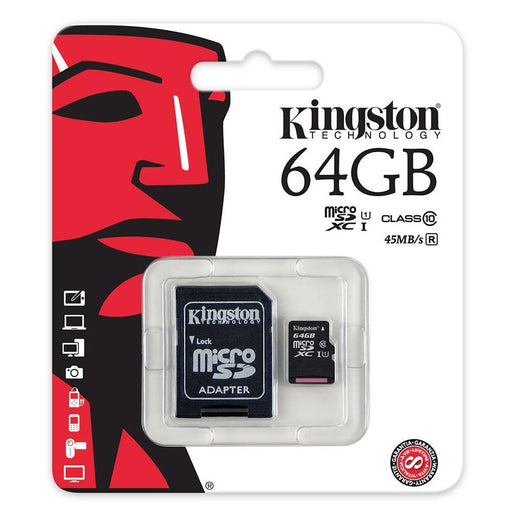 Kingston 64GB 45MB/s microSDXC Memory Card