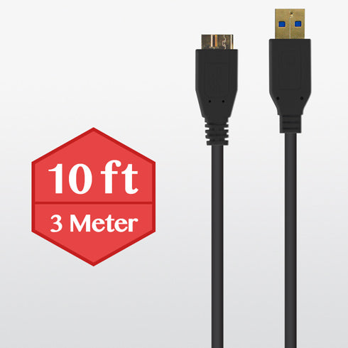 10 feet Micro USB 3.0 Cable - Black