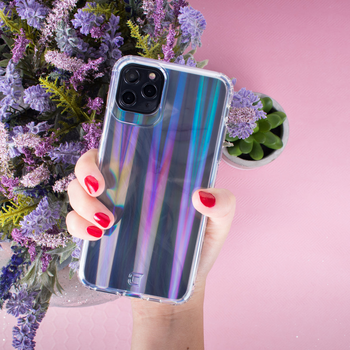 Prisma Swirled Iridescent Clear Tough Case - iPhone 11 Pro Max