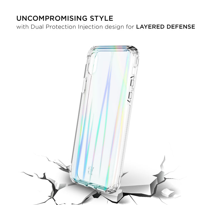 Prisma Swirled Iridescent Clear Tough Case - iPhone XR