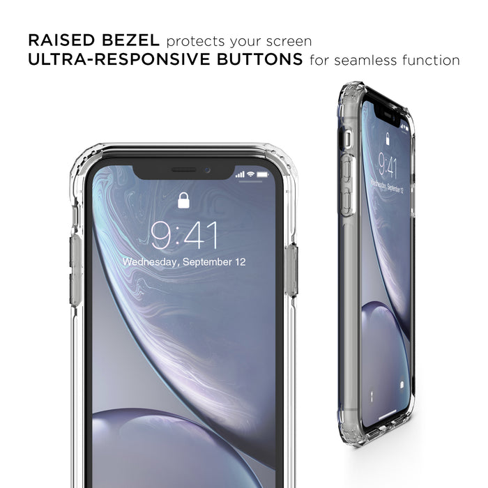 Flare Swirled Iridescent Clear Tough Case - iPhone XR
