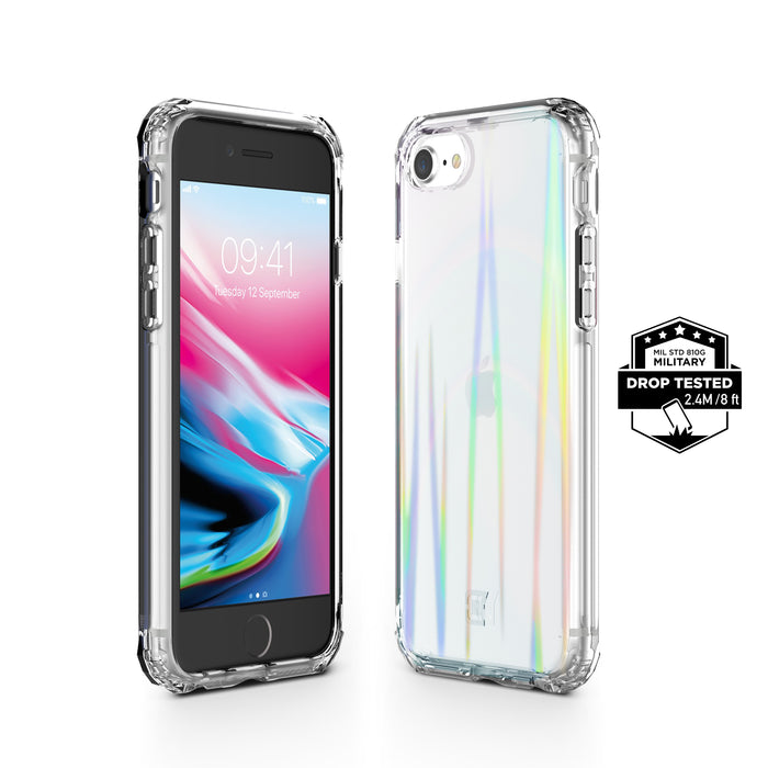 Prisma Swirled Iridescent Clear Tough Case - iPhone SE 2020, iPhone 8/7