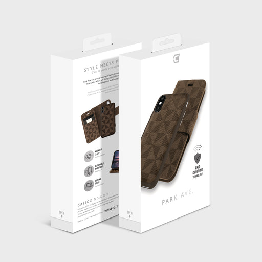 Park Ave Detachable RFID Protection Folio Case - iPhone 8 & 7 Plus