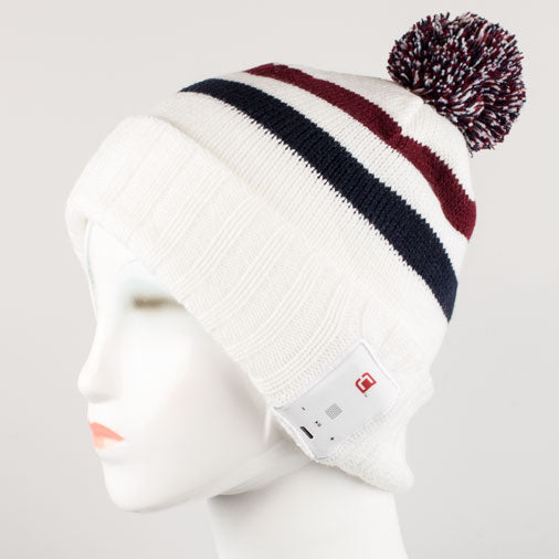 Blu-Toque - Bluetooth Beanie - Varsity Red and Black