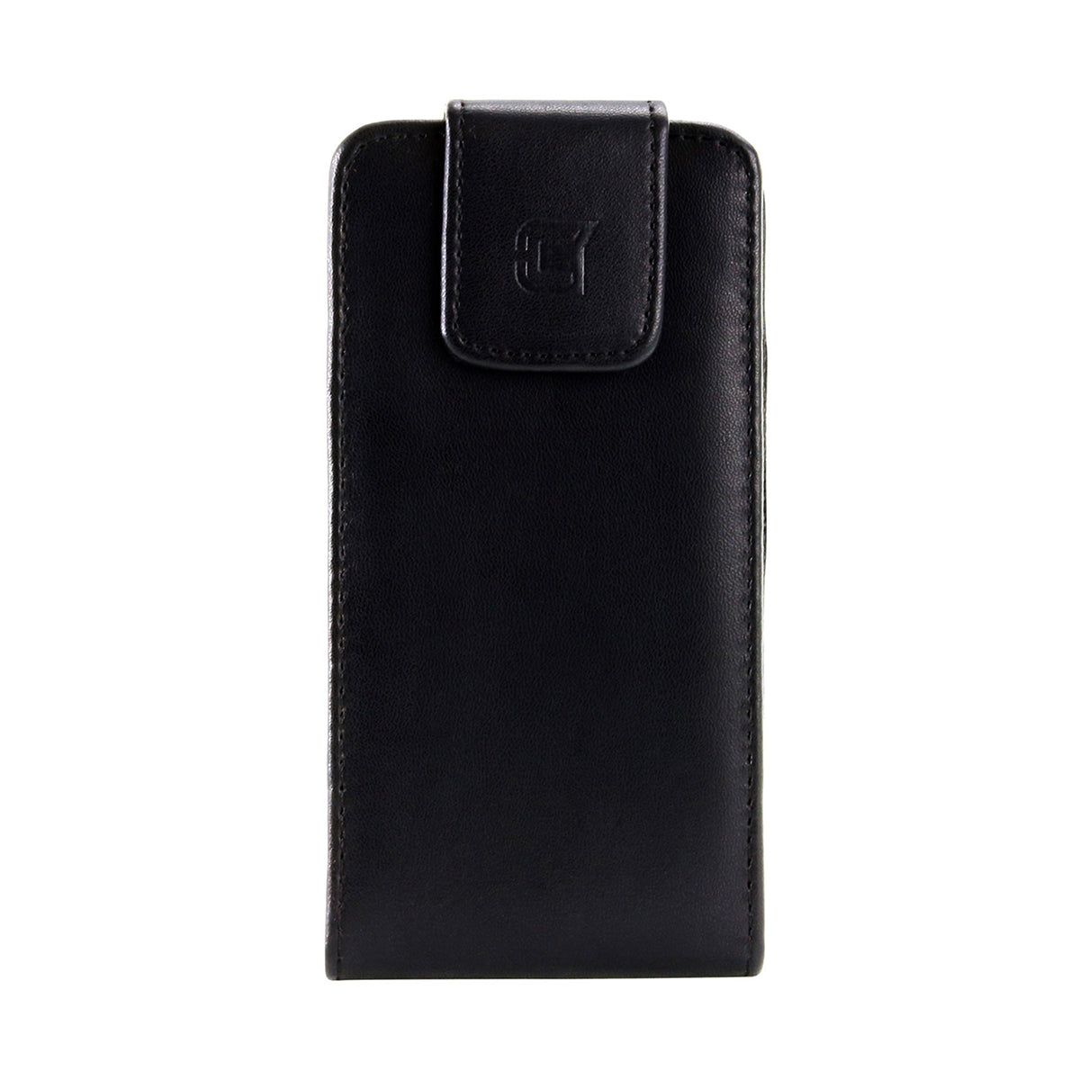 Faux Leather Vertical Pouch w/ 360 Belt Clip - 6.0in