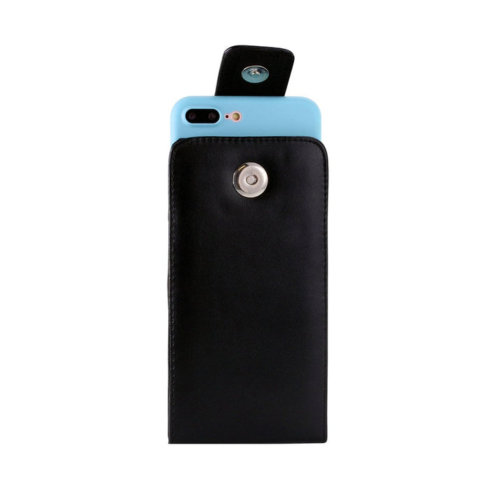 Faux Leather Vertical Pouch w/ 360 Belt Clip - 6.0in - iPhone 12 / 12 Pro