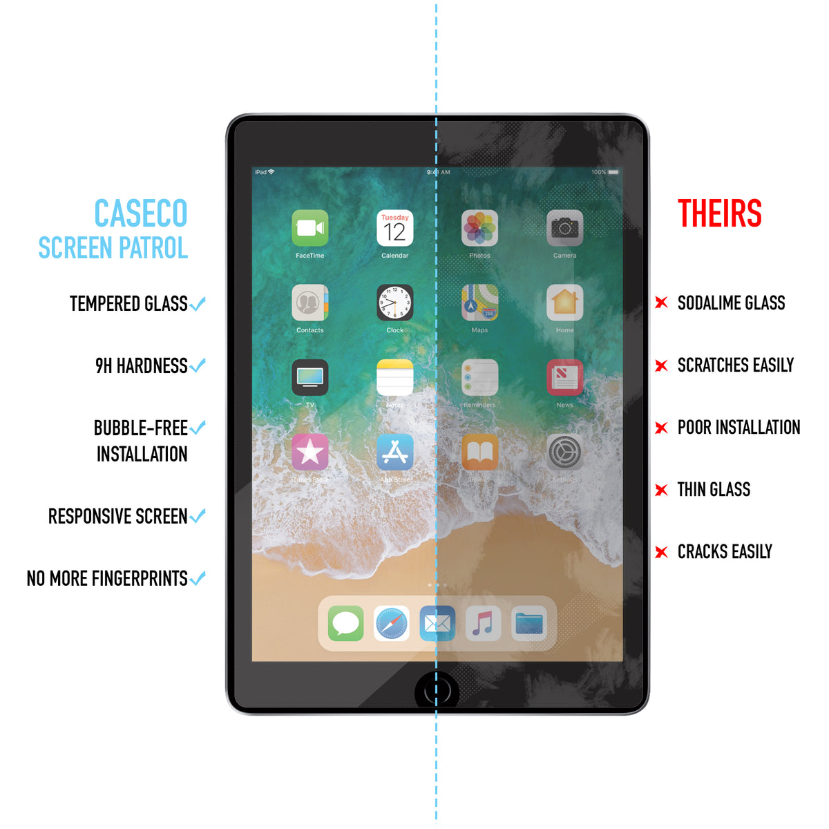 Screen Patrol - Tempered Glass - iPad Pro 12.9 (1st & 2nd Generation)