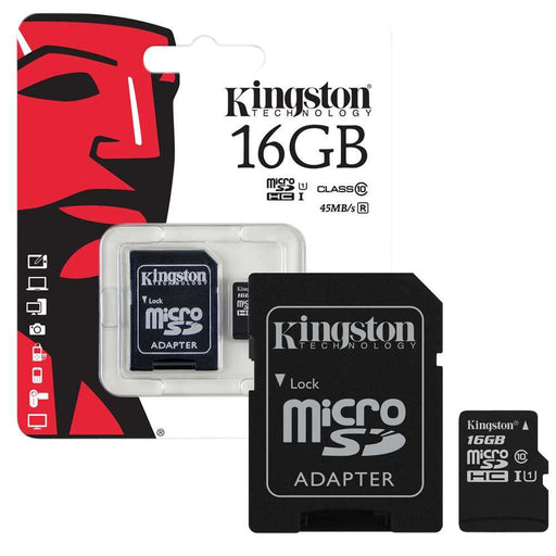 Kingston 16 GB MicroSDHC Class 10 Memory Card