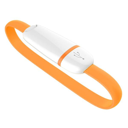 Wearable Micro USB Cable - Orange