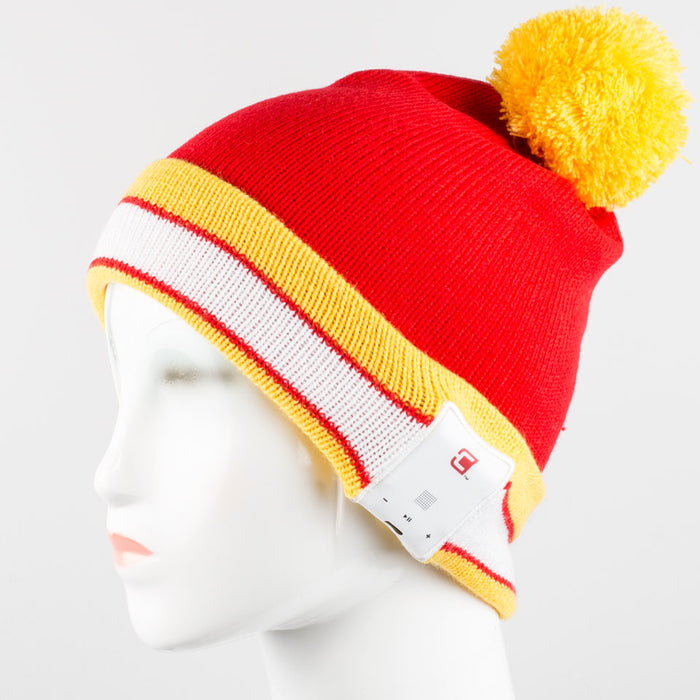 Blu-Toque - Bluetooth Beanie - Varsity Red and Yellow