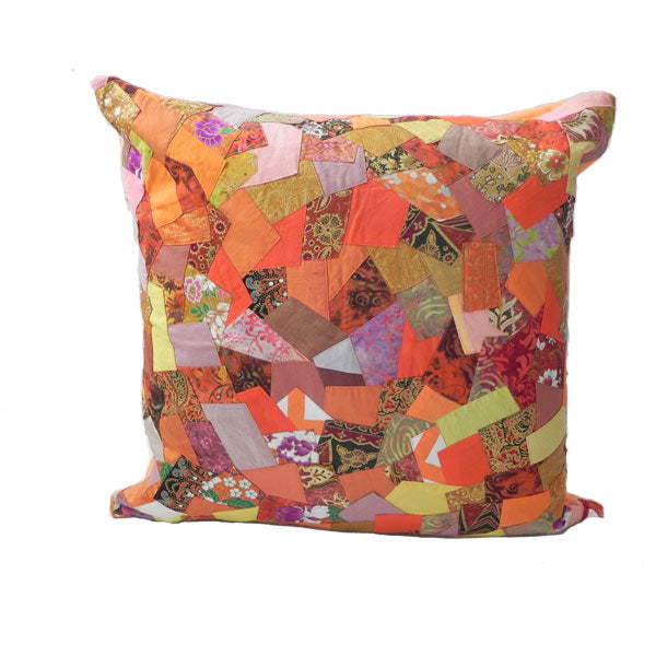 Zigzag Accent Cushions Orange