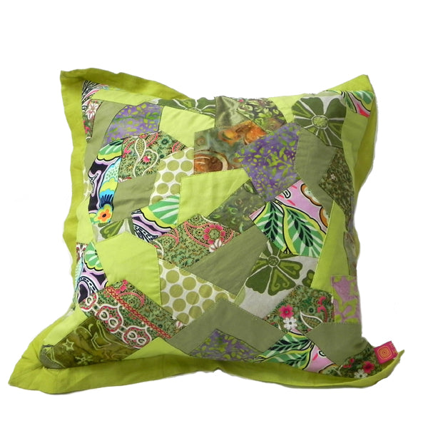 Zig Zag Throw Cushion - Lime