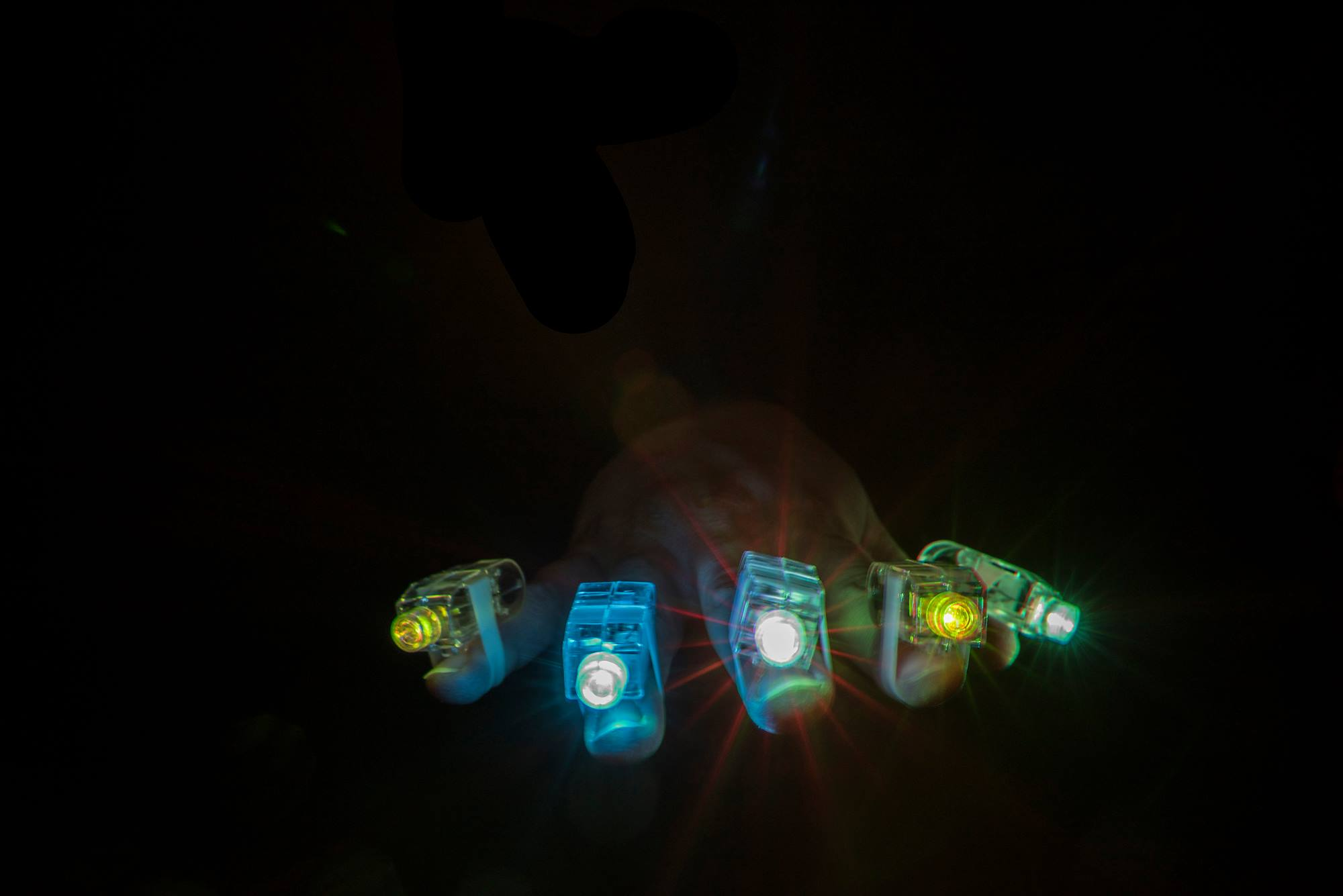12 PACK - 7 Colour Finger Lights