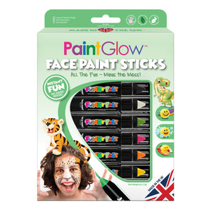 6 PACK - Face Paint Sticks
