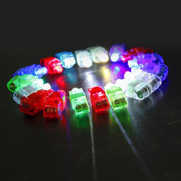 100 PACK - Assorted Colour Finger Lights