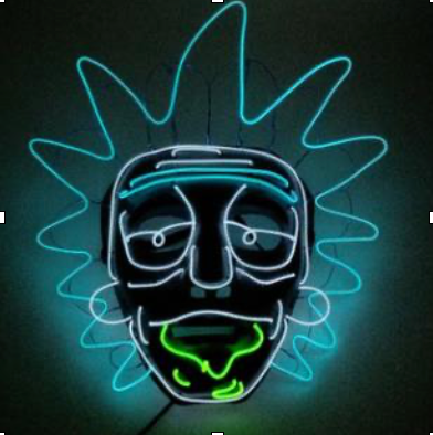 EL Wire Mask - Rick and Morty