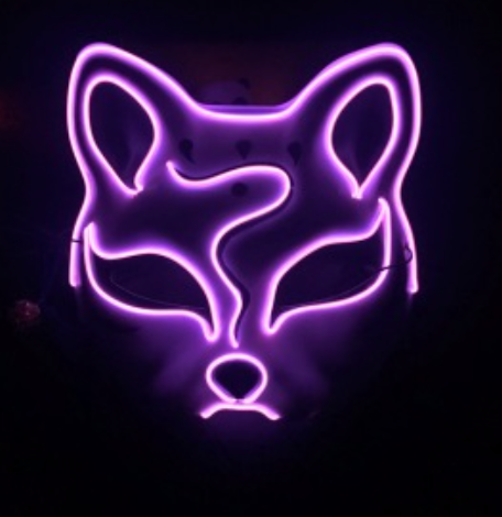 EL Wire Mask - Fox
