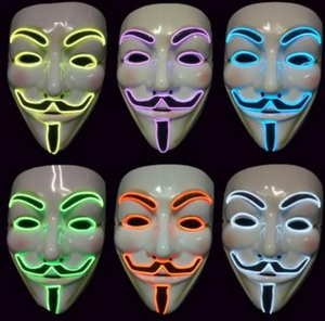 EL Wire Mask - Guy Fawkes Mask