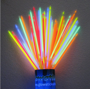 100 PACK - Assorted Glow Bracelets (5mm Thick) .18c each!