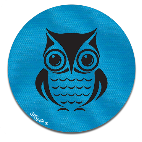 Owl Printed - Bright Blue
