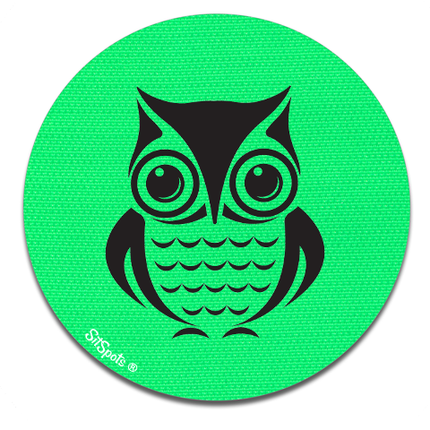 Owl Printed - Bright Green